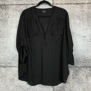 Torrid // 3/4 Length Sleeved Top // Torrid Size 2
